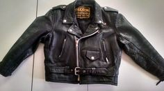 Vintage Child's Motorcycle Leather Jacket Size 16. Vintage Hudson Made in USA! in Outerwear | eBay