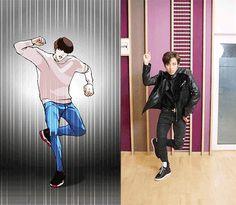 161021 Dongwoo INFINITE collaboration with cartoonist Park Tae Joon ' Looksim ' Lookism Webtoon, Webtoon Comics, Dong Woo, Anime Films, Line Friends, Recent News, Korean Drama, Kawaii Anime, Manhwa