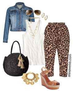 47984a28b Plus Size Leopard Pants Outfit Ideas
