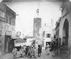 Antonio Cavilla Photographer: The Main Street of Tangier, or the Ciagreen, the street of the Silversmiths
