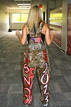 decorated overalls homecoming | Photo Gallery: Senior girls carry out school tradition, overalls