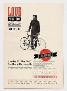Love Your Bike #retro #poster