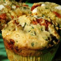Pix Potluck: Savory Spinach, Feta and Peppadew Muffins from Cooking Channel My Favorite Food, Favorite Recipes, Crispy Quinoa, Vegetarian Main Course, Griddle Cakes, Savory Muffins, Spinach And Feta, Spinach Recipes, Muffin Recipes