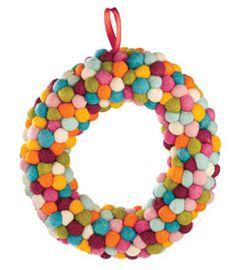 confetti pompom wreath