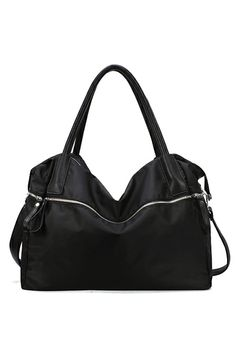 Patent Black Zip Top Bag. Description  Bag,featuring a black,patent zip top design,a smooth main with zip and leather detailing,double grab handles leather strap to the top,zip through closure,a detachable strap with an adjustable length finish. Fabric PU Washing To maintain appearance and condition, wipe light marks with a soft cloth. #Romwe