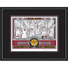 Miami Heat 2013 NBA Finals Sports Propaganda Screen Print, Multicolor