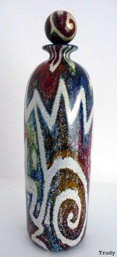 Isle of Wight Studio Glass Jazz Nuvo Perfume Bottle.