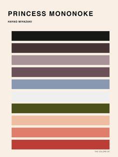 this isn't happiness™ (Color Palettes of Hayao Miyazaki, Hyo Taek Kim), Peteski