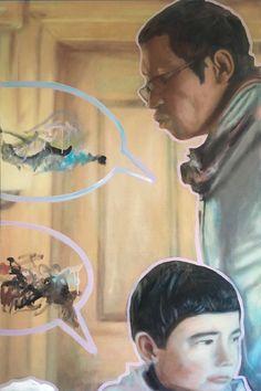 Markus Boesch - my friend with his son 120 cm x 80 cm Oil on Canvas www.markusboesch.net