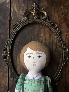 Kira - handmade linen, cotton, and wool heirloom cloth doll by BeardedFellas on Etsy https://www.etsy.com/listing/255129100/kira-handmade-linen-cotton-and-wool