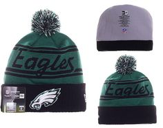 Mens   Womens Philadelphia Eagles New Era 2016 NFL Fashion Green Pom Fire  Cuffed Knit Pom Beanie Cap - Green   Black 1e6a776dd