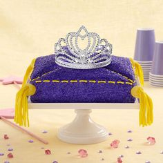 Present your birthday girl with this cake fit for a #princess. After the royal cake has been served, she can wear the crown for the rest of her special day!  From parents.com
