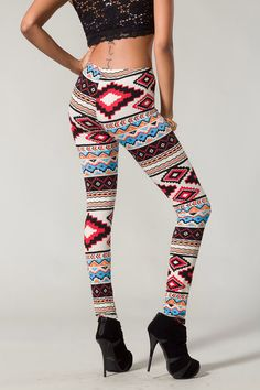 Aztec Printed Leggings by SabrinaFashionTrends on Etsy