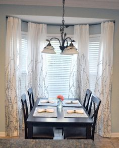 panel curtain luxury white bay window s window treatments with blinds for dining room with rectangle