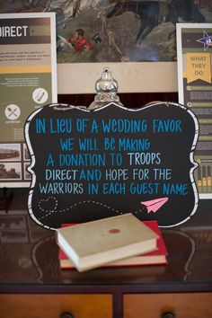 Sweet wedding favor alternative idea - charitable donation {Rachael Foster Photography}