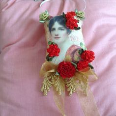 5 inch lavender scented sachet with image of a by cindysvictorian