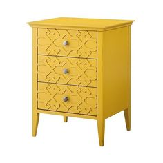 Accent Table: Fretwork Accent Table yellow - Threshold, Summer Wheat (1.190.585 IDR) ❤ liked on Polyvore featuring home, furniture, tables, accent tables, summer wheat, storage end table, storage side table, drawer furniture, modern table and modern furniture