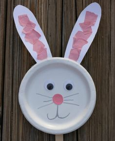 Bunny Paper Plate Puppet Craft is part of Easter crafts Kids - This paper plate bunny puppet is such a fun and easy preschool craft! Kids can use the puppet while they are singing Easter songs, retelling Easter stories or just playing pretend Easy Preschool Crafts, Easter Arts And Crafts, Spring Crafts For Kids, Daycare Crafts, Easter Projects, Easter Activities, Easter Crafts For Kids, Toddler Crafts, Craft Kids