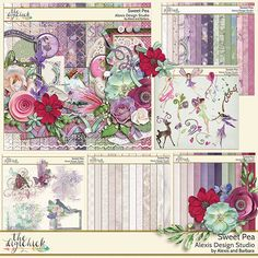 Alexis Design Studio SWEET PEA was created with romance, glitz and a touch of whimsy to add a bit of fun to your pages. It is full of beautiful colors, sparkle, rich and fun elements to add a touch of class to any special occasion.  Find this digital scrapbooking kit at The Digi Chick http://www.thedigichick.com/shop/Sweet-Pea-Collection.html