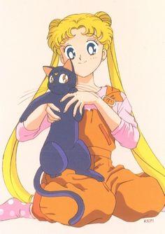 Luna y Serena #Sailor moon