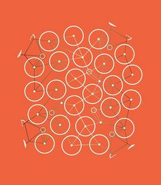 Bike Pattern  (bike pattern for pinwheels, flower origami, other paper decor)