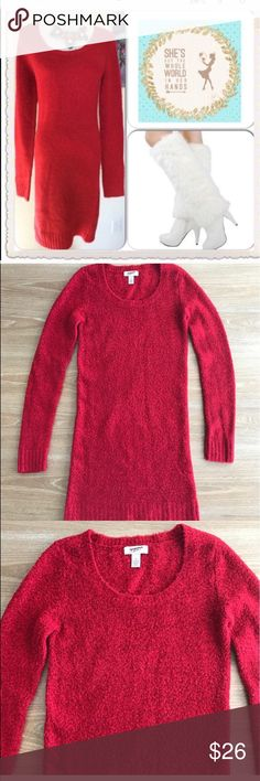 ARIZONA RED SEXY SWEATER DRESS Super soft fabric. You will feel like someone is snuggle you. Stretches and marks your silhouette, very sexy and keeps you warm.        💗Condition: EUC No flaws. No rips, holes or stains. Color: red.                                                              💗Smoke free home 💗No trades 💗No returns 💗No modeling  💗Shipping next day 💗OPEN TO reasonable OFFERS  💗BUNDLE and save more (#114) Arizona Jean Company Dresses Long Sleeve