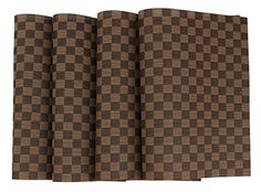 Spaco Cross Bamboo Style Table Placemats Table Decor Mats for Kitchen Dining RoomSet of 4 Brown Black S1 *** Read more reviews of the product by visiting the link on the image. Note:It is Affiliate Link to Amazon.