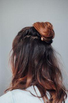 Hair Tutorial // Half Up Pinned Top Knot — Treasures & Travels