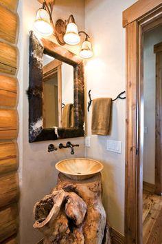 Tree Trunk Pedestal Sink