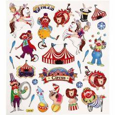 Mitgebsel: BUDILA® Metallicsticker Zirkus: Amazon.de: Spielzeug