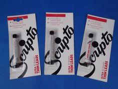 3 Packs NOS Scripto ULTRA THIN LEADS 0.5mm Black 36 Total Leads F239 #Scripto