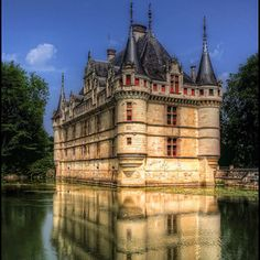 Azay le Rideau - so gorgeous, spent a long time drinking it in, laying on the grass in the castle garden.