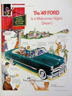 1948 '49 Ford Automobile Vintage Advertisement by RelicEclectic on Etsy #RelicEclectic #VintageAd #Ford
