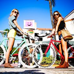 #mulpix Two girls cruising. Bikes&Picture: @bocabikeshop©   #fixies  #fixed  #fixie  #fixedgear  #fixielife  #custom  #customized  #custombikes  #custombicycles  #bikes  #bicycles  #republicbike  #fixiebike  #singlespeed  #cycle  #velo  #fahrrad  #tbt  #love  #inspiration  #girl  #hipster  #fashion  #cycling  #graffiti  #bikeporn