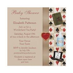 alice in wonderland baby showre invitations | LOVE! Alice in Wonderland neutral Baby Shower ... | An Unbirthday Bab ...