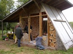 cordwood construction | Tagged cordwood construction , cordwood workshop , critters , the shed