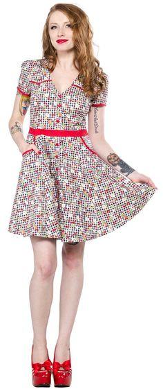 cute gingham print dress!