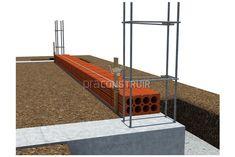 Paredes: você sabe o que é alvenaria de vedação? Concrete Building Blocks, House Roof, Pallet, Stairs, Construction, Design, Home Decor, Construction Tools, Glass Walls