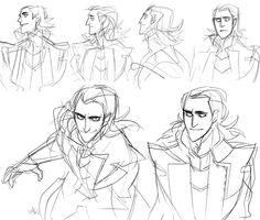 Loki sketches Character Design Cartoon, Character Design References, Character Drawing, Character Design Inspiration, Loki Character, Animation Character, Character Sketches, Character Illustration, Art Sketches