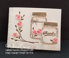 Stampin' Up! Jar of Love by Melissa Davies @rubberfunatics #jaroflove #stampinup #rubberfunatics