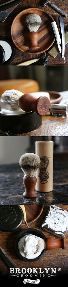 """Limited edition """"Super Badger Hair"""" Shaving Brush by Brooklyn Grooming Twist outs, Straight Razor Shaving, Shaving Razor, Shaving Brush, Shaving Soap, Shaving Cream, Shaving Blades, Beard Grooming Kits, Men's Grooming, Classic Shaving"""