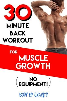Use this workout to increase the thickness and width of your back with only your bodyweight and no pull-up bar. Grow your back muscles fast! Bodyweight Strength Training, Pilates Training, Beginner Bodyweight Workout, Circuit Training, Build Muscle Fast, Gain Muscle, Workout Plan For Men, Workout Plans, Increase Muscle Mass