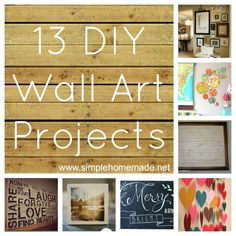 SH 13 DIY Wall Art Projects for 2013