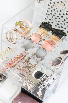 jewelry, jewelry organization, home organization, accessory organization, acrylic organizer, glamboxes