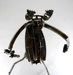 Creature bicycle sculpture  C1  Made with bicycle by BespokeSpokes