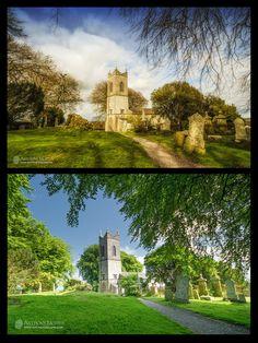 Tara churchyard winter and summer
