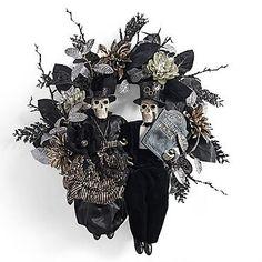 Skeleton Couple Wreath