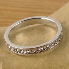 1 ct Zircon Eternity Wedding Band Ring LA R2893. Starting at $1