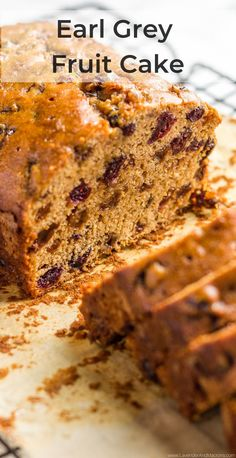 This cozy English Earl Grey Fruit Cake is a delicious and healthy treat without nasty ingredients. Easy to make, flavorful and pairs perfectly with your morning cup of tea or coffee. The recipe is perfect for the holidays. Savoury Pastry Recipe, Easy Pastry Recipes, Sweets Recipes, Brunch Recipes, Breakfast Recipes, English Desserts, English Recipes, English Food, Greek Yogurt Dessert