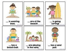 Free! Summer Pronouns and sentence activity